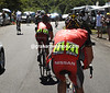 Armstrong has been dropped about six-kilometres from the summit of the Pailheres...