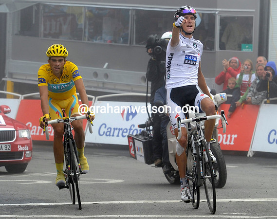 For Andy Schleck the stage, for Contador the Yellow Jersey - with three stages to go...