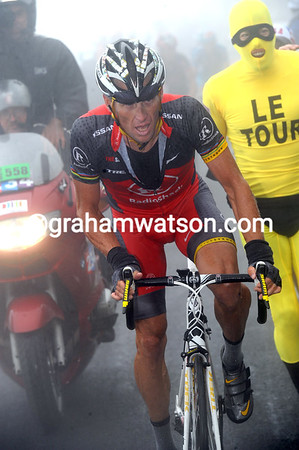Lance Armstrong is climbing the Tourmalet alone - the last mountain in his last-ever Tour...