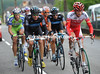Remi Pauriol and Edvald Boasson Hagen lead an escape away after a few kilometres...