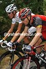 Levi Leipheimer spends the free time explaining time trialling to Andy Schleck...