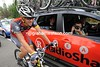 Lance Armstrong is posing for Radio Shack's new behind-the-scenes photographer...