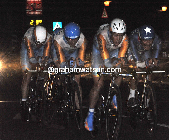 Garmin-Transitions were all at sea tonight, but they still took 6th place at 17-seconds...