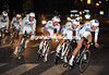 FDJ looked good at night in their all-white kit - the French team took 16th place at 33-seconds...