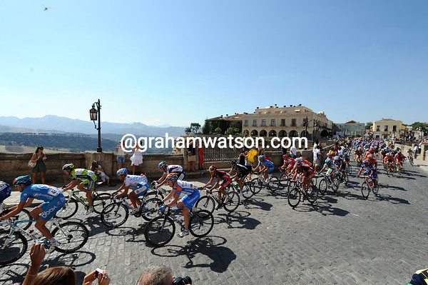 Ronda, the romantic jewel in Andalucia, welcomes the Vuelta...