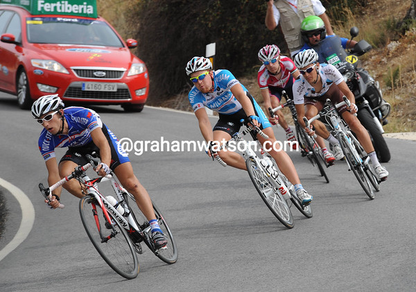 Cataldon leads the way towards yet another hill in Andalucia...