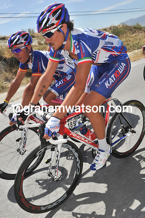 The moustache on Filippo Pozzato's face might actually look better by the time he reaches Madrid...