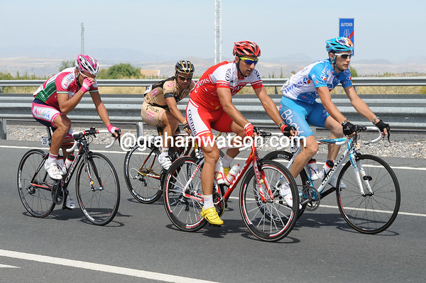 Arnaud Labbe is leading a quartet away to a big lead on a highway in Andalucia...