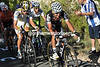Carlos Sastre leads the favourites up the climb - he has Van Garderen, Nibali, Anton, Tondo and Rodriguez with him...
