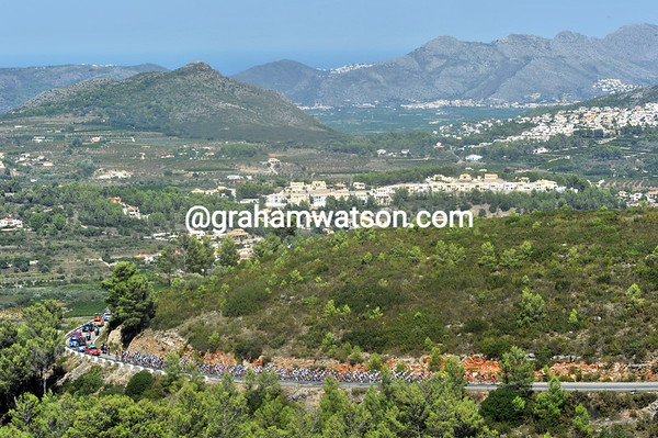 The view back to the Mediterranean Sea at Denia are breathtaking on a day like this...