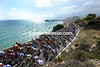 The peloton hits the coast road at Sitges, and what a coastline it is..!