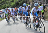 The climb of Rat Penat starts with Xacobea-Galicia setting a fast pace for Ezequiel Mosquera...