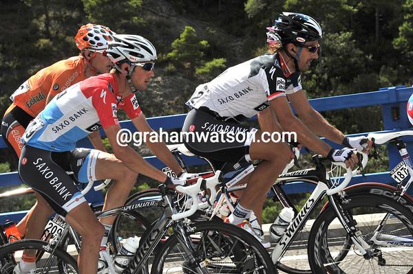 Frank Schleck can have worst teamates than Fabian Cancellara to help him through this Vuelta...