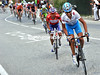 Ezequiel Mosquera has attacked with five-kilometres to go - he shreds the group behind...
