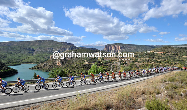 Garmin is still leading the way at the head of the peloton...