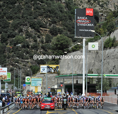 The Vuelta sets off from the dodgy banking centre of Andorra...