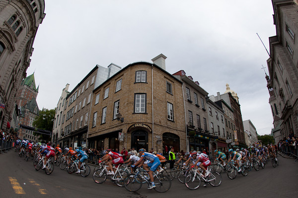 The course wound through the streets of old Quebec City.