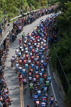 The peloton was keeping them well in check.