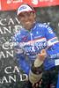 Carlos Barredo celebates winning at Lagos de Covadonga - Nibali is still race-leader...