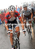 Frank Schleck, Roche and Sastre are trying hard to limit their losses...