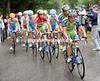 What's left of the peloton is led by Oliver Zaugg, ahead of Kreuziger and Nibali...