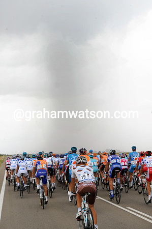 At least the threat of heavy rain is causing some excitement in the race...