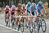 Eight cyclists are fleeing the peloton unchallenged, led by Dominiek Roels of Milram...