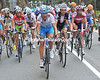 The overall favourites are gathering en-masse as the Navacerrada starts climbing harder...