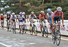 Frank Schleck breaks up the group further, just before the Navacerrada end...