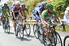 Mark Cavendish is struggling a few minutes behind the peloon - thanks to Pozzato...