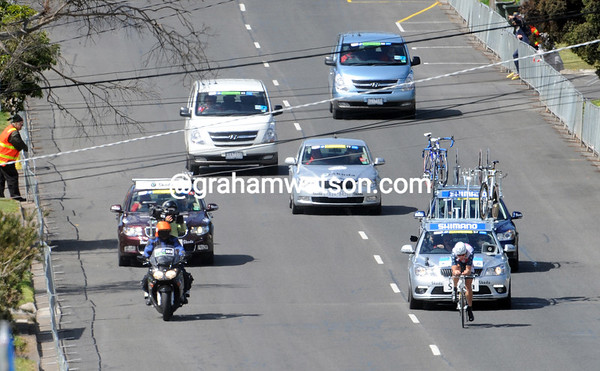 Who's that man with the day's biggest convoy of following vehicles..?