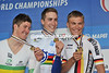 Young bucks Phinney, Durbridge and Kittel pose so perfectly on a perfect podium...