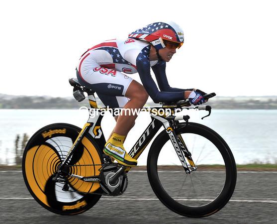 "Evelyn Stevens took 6th place in the womens TT, 1'08"" down on the winner..."