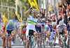 Michael Matthews wins the mens U-23 road race ahead of Germany's John Degenkolb...
