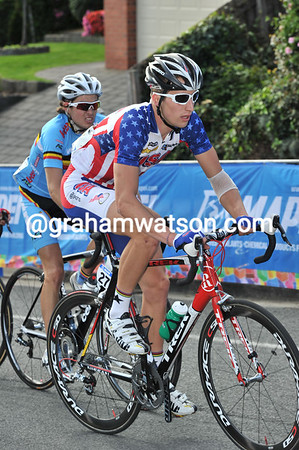 Taylor Phinney is constantly near the front, just watching and waiting...