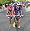 Jean-Luc Paini attacks for France on the final lap...