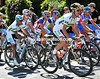 Michael Rogers is sheprding Allan Davis in the Spanish-led group that contains Hushovd, Farrar and Cancellara...