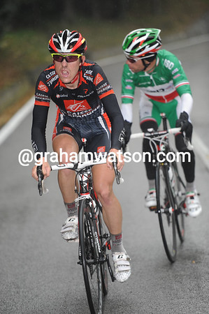 Madrazo and Visconto have pulled away from the peloton in pursuit...