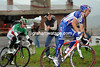 Vladimir Gusev has come out of the peloton and replaced Madrazo ahead of Visconti...