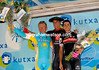Luis Leon Sanchez shares his winner's podium with Vinokourov and Sastre - now bring on the Vuelta a Espana..!