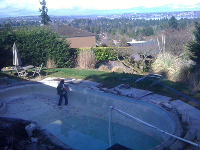Fixing up the pool!