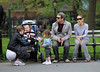 Non Exclusive<br /> 2011 May 7 - Sarah Jessica Parker and Matthew Broderick take twins Marion and Tabitha to a local park to hear live music in NYC. Photo Credit Jackson Lee