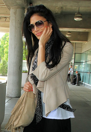 2011 May 15 - Nicole Sherzinger arrives at JFK Airport in NYC. Photo Credit Jackson Lee