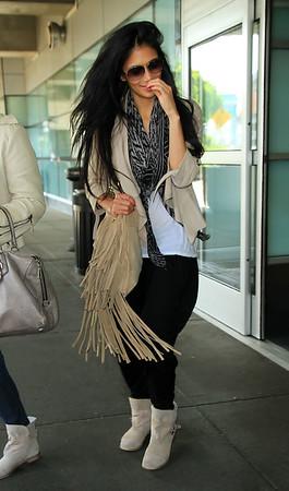 2011 May 15 - Nicole Sherzinger arrives at JFK Airport in NYC. Photo Credit Jackson Lee