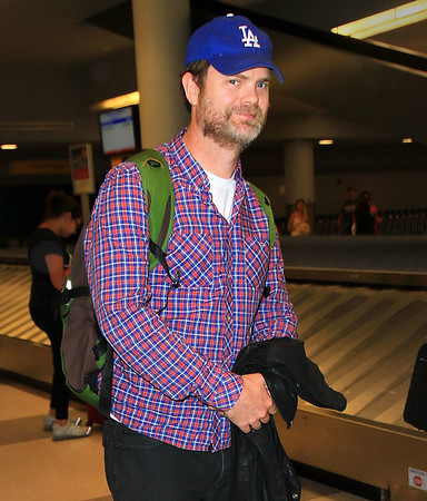 Non-Exclusive<br /> 2011 May 15  - Rainn Wilson arrives to JFK Airport in NYC. Photo Credit Jackson Lee