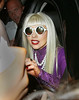 Lady Gaga greets her fans in NYC.