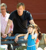 NON EXCLUSIVE<br /> 2011 August 7 - Alexander Skarsgard plays with a young co-star on the set of 'What Maisie Knew' in NYC   Photo Credit Jackson Lee