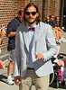 Non-Exclusive <br /> 2011 Aug 24 - Ashton Kutcher arrives at 'David Letterman Show' in NYC.  Photo Credit Jackson Lee