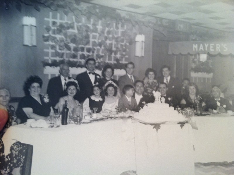 1948  Ritchie Russo and Theresa Mazziotta Wedding a Mayer's in NYC. children are Joey Russo and Kitty Russo Asaro