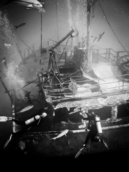 The wreck of Ray of Hope.